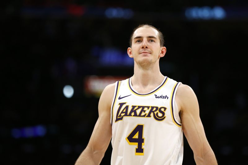Alex Caruso of the Los Angeles Lakers has made into the top five