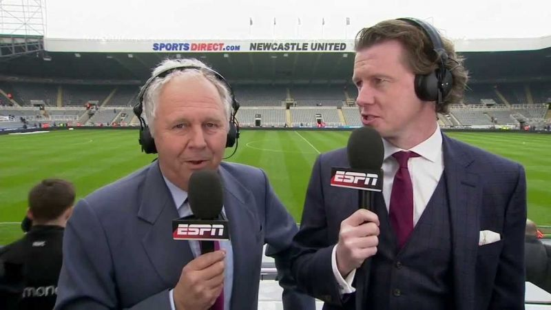 Ian Darke (left) has been a primary commentator both in English and American football