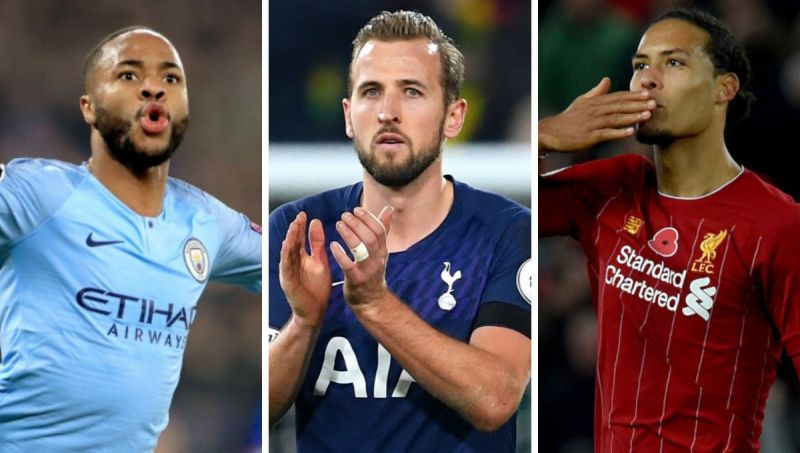 Harry Kane, Raheem Sterling and Virgil van Dijk all make the list