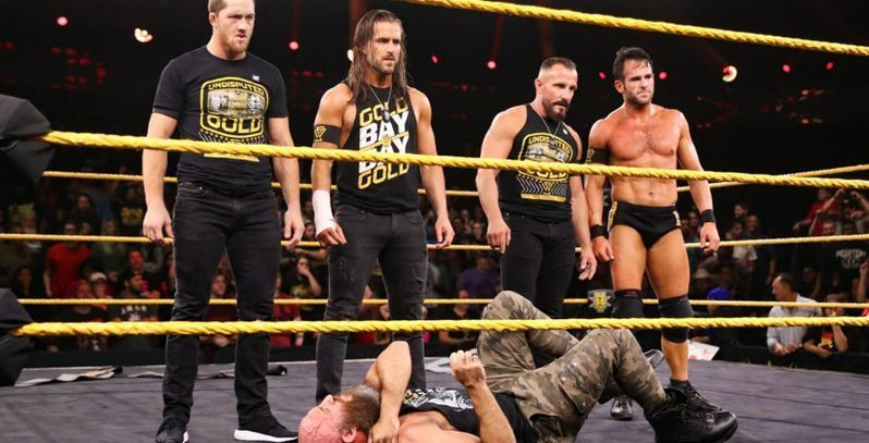 Adam Cole with the rest of The Undisputed Era (Image Courtesy: The Sportster)