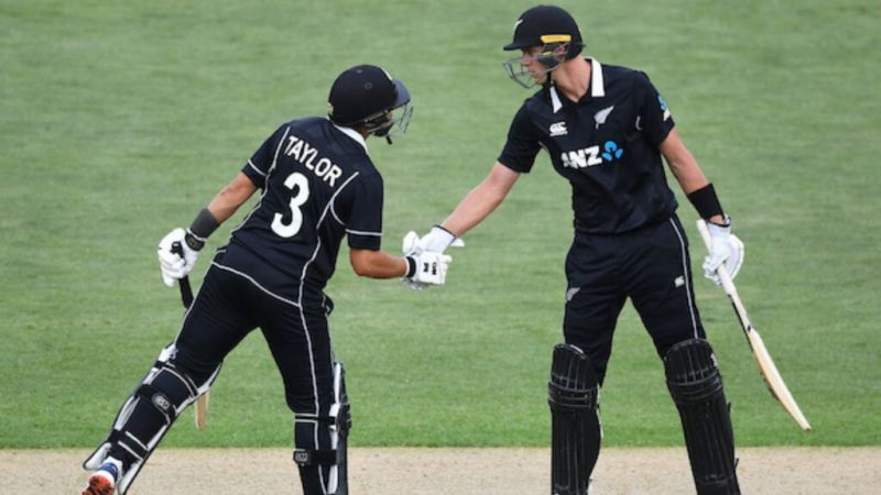 The partnership between Ross Taylor and Kylie Jamieson propelled the Kiwis to 274.