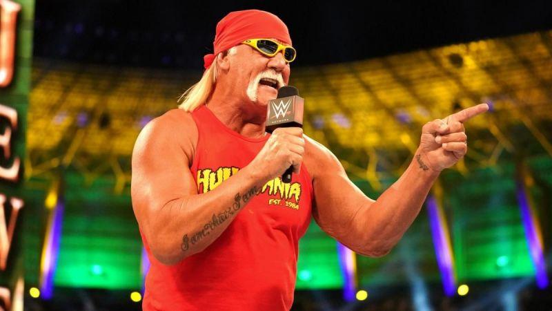Hogan cutting a classic promo back at Crown Jewel 2018