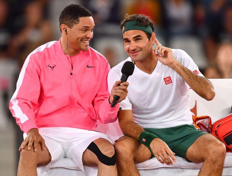 Trevor Noah and Roger Federer