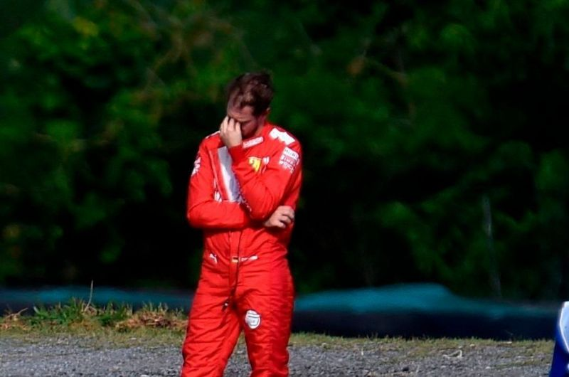 Another failure has Vettel scratching his head
