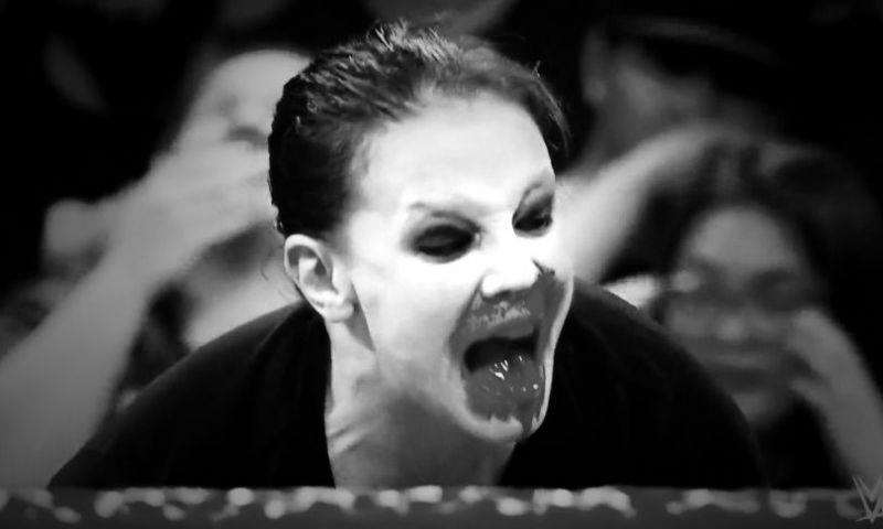 Baszler after biting Becky Lynch