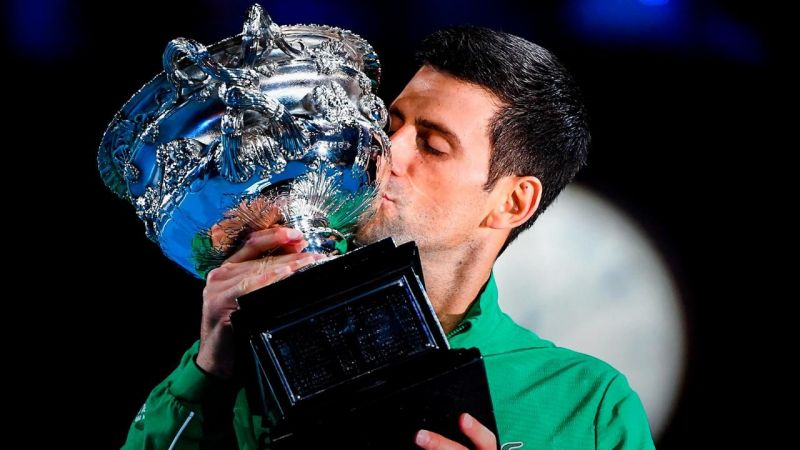 Djokovic has now won the Australian Open a staggering eight times.