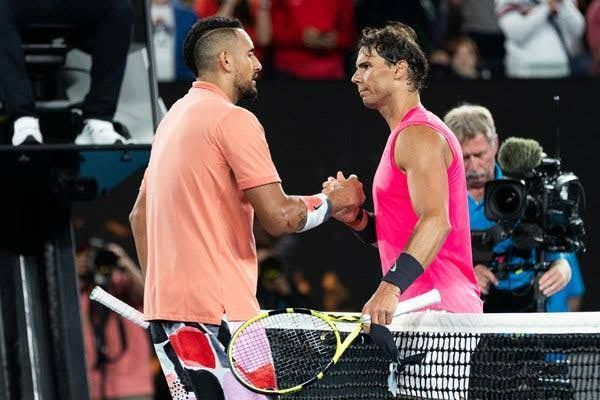 Nadal takes out Kyrgios in four sets in the 2020 Australian Open