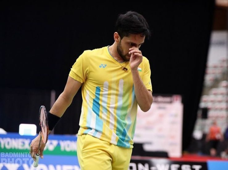 Kashyap suffered back spasms in the third game of his match