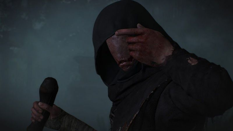 The dark and ominous Caretaker has a dominating presence