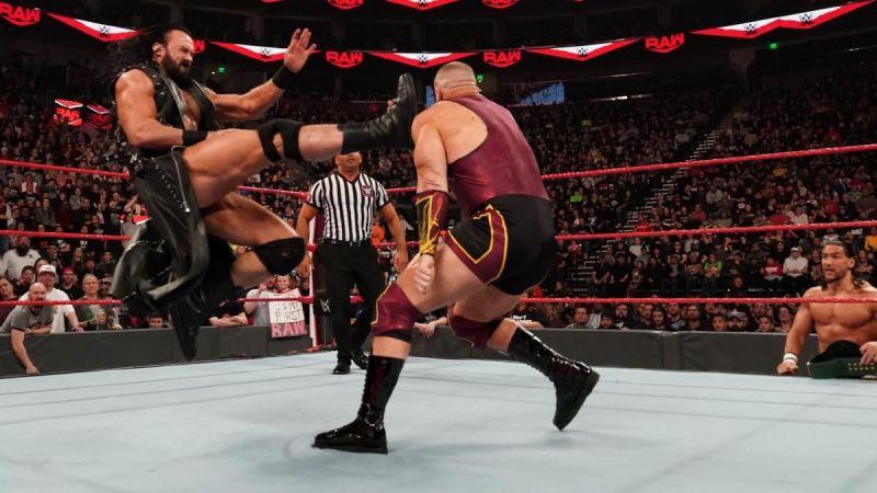 Drew McIntyre sends a message to Brock Lesnar