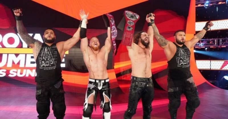 AOP, Seth Rollins and Murphy.