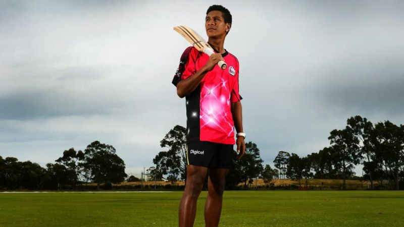 Charles Amini was selected for Sydney Sixers back in 2013.