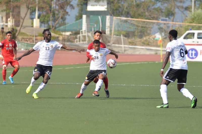 Real Kashmir in action against Aizawl