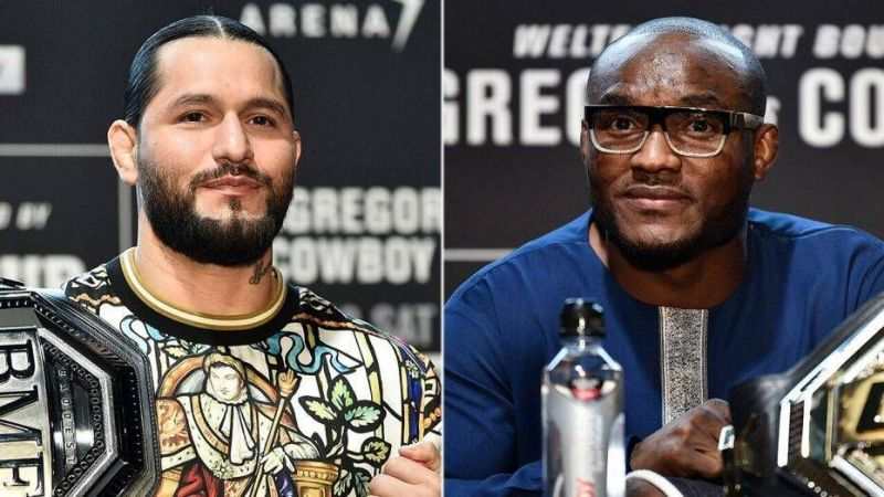 Masvidal (left) could finally square-off with Usman in Summer
