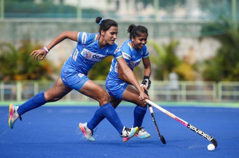 Rani Rampal in action (Image Credits - Hockey India)