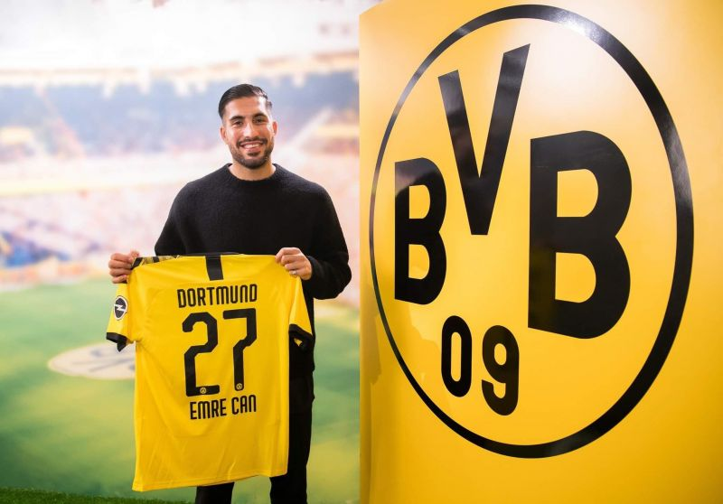 Emre Can holds the famous yellow and black of BVB