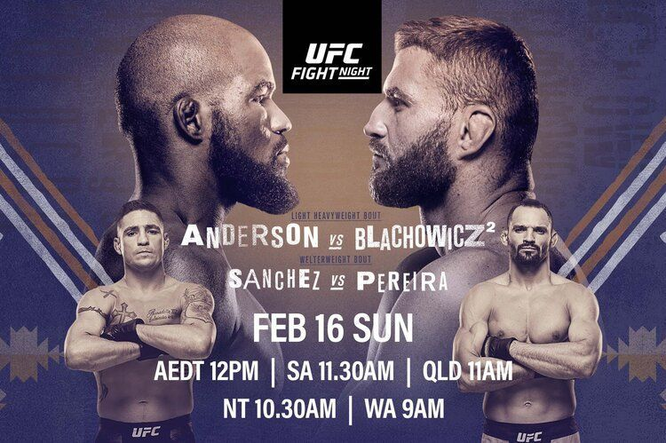 Corey Anderson takes on Jan Blachowicz in this weekend