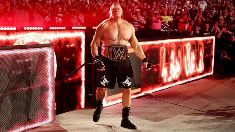 Brock Lesnar entering the Royal Rumble 2020