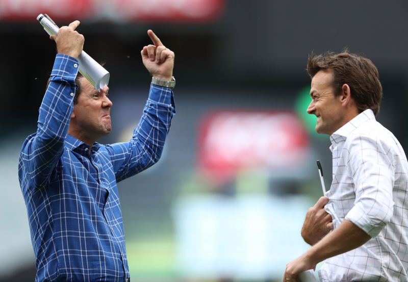 Ricky Ponting (left) and Adam Gilchrist (right) will lead the two sides in the Bushfire Bash
