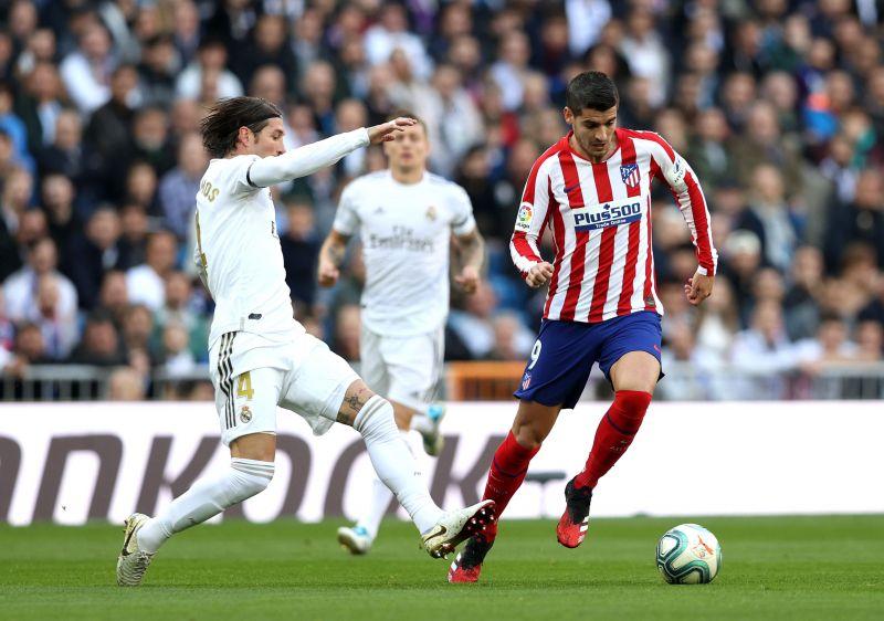 Morata did not register a shot on target against his former side