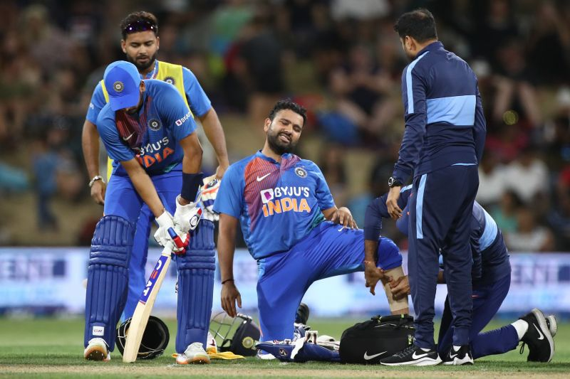 Rohit suffered a calf strain in the last T20 against NZ
