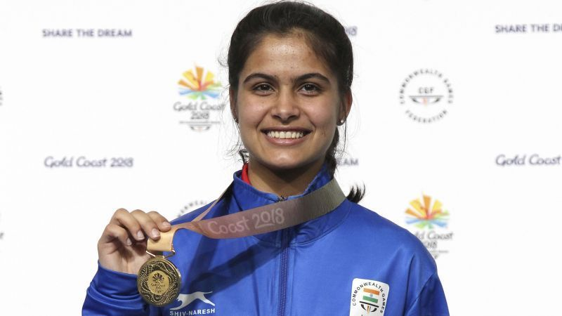 Manu Bhaker- Gold Medalist at the 2018 Commonwealth Games