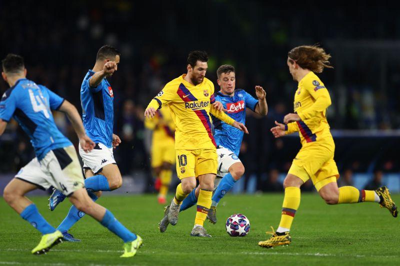 Lionel Messi was kept quiet in a fantastic defensive effort by Napoli
