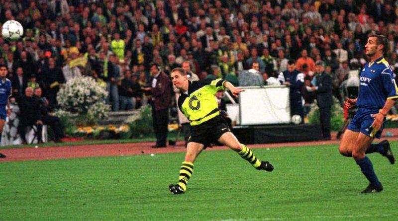 Ricken chips Peruzzi to make it 3-1 for Dortmund