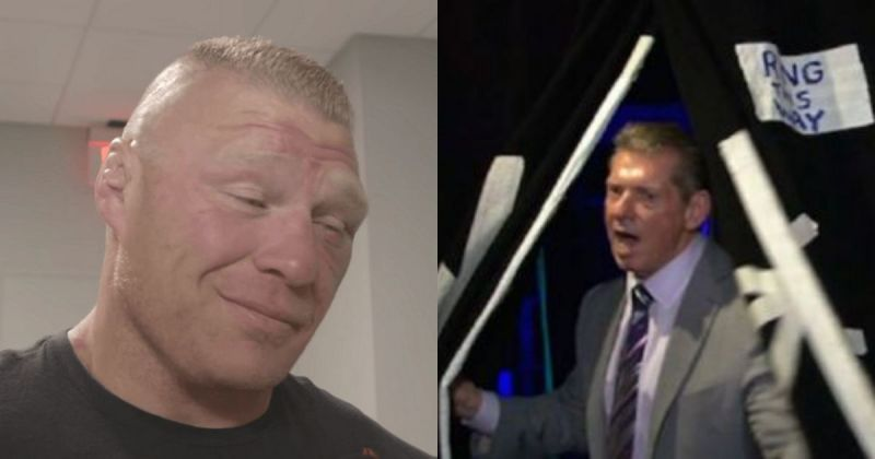 Brock Lesnar and Vince McMahon.