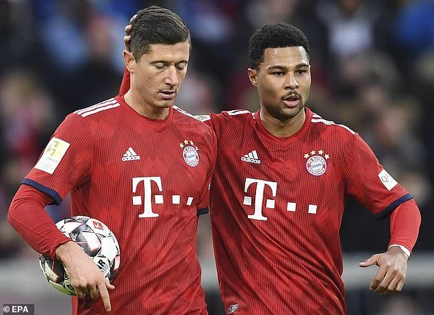 Bayern Munich duo, Robert Lewandowski and Serge Gnabry are shining in Europe this term