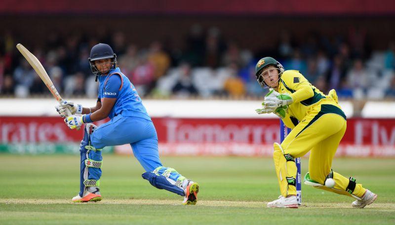 Harmanpreet Kaur in action against Australia
