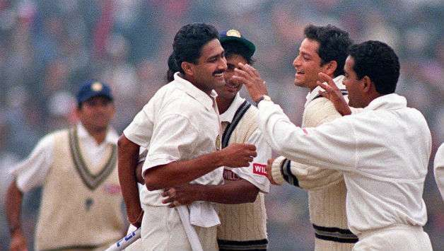 Anil Kumble took 10 wickets against Pakistan in Delhi