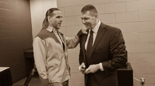 Shawn Michaels and Vince Mcmahon