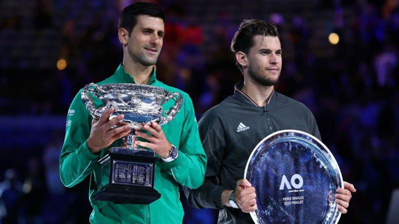 Novak Djokovic Dominic Thiem - cropped