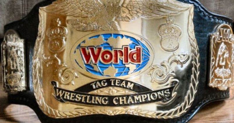 W WF World Tag Team Championship title.