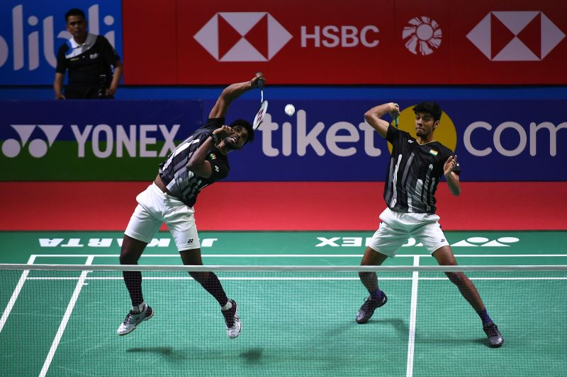 Chirag Shetty and Satwik Sai Reddy in action (file photo)