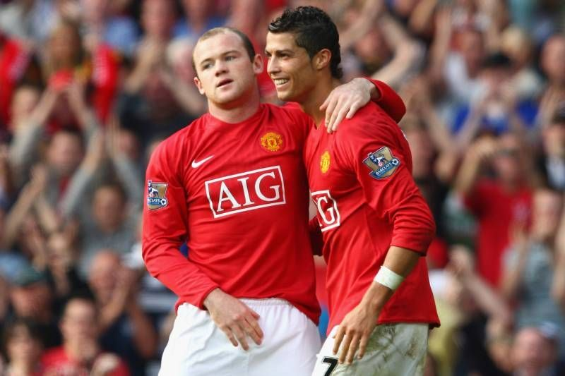 Wayne Rooney formed a formidable partnership with Cristiano Ronaldo at Manchester United