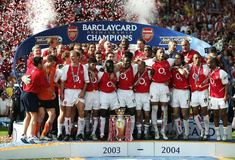 Arsenal Invincible winners in the 2003/04 sea - Premier League
