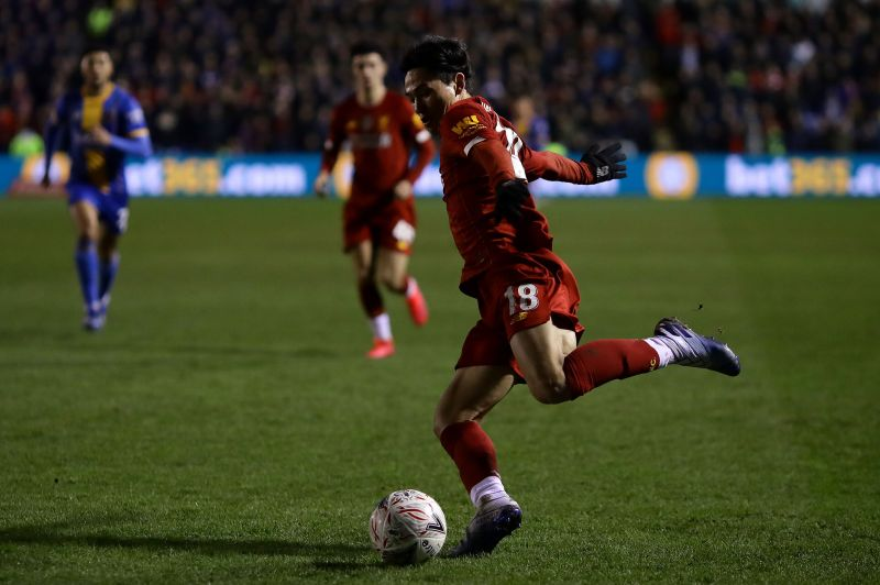 Minamino in action for the Reds