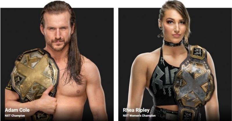 Adam Cole and Rhea Ripley