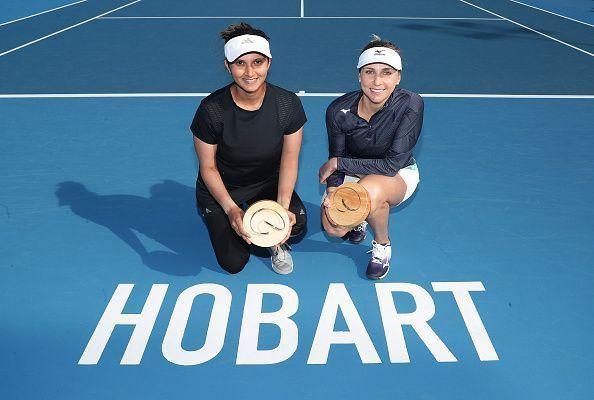 Sania with Nadiaa Kichenok at Hobart