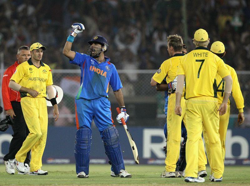 Yuvraj Singh played one of the best knocks of his career against Australia