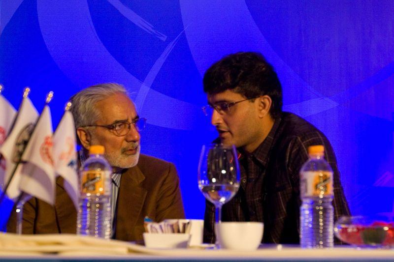 BCCI president Sourav Ganguly (right)