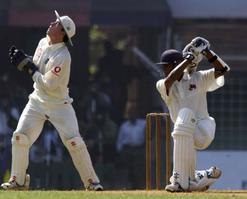 A young Wasim Jaffer in action
