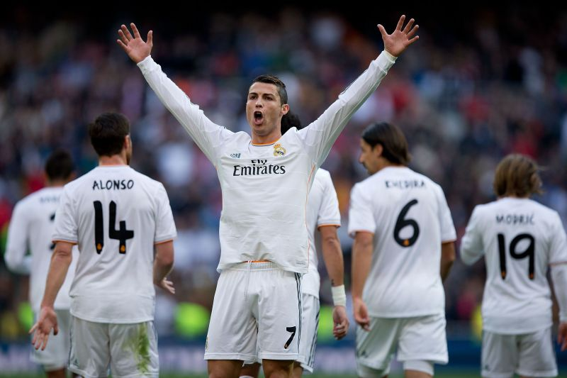 Ronaldo in action in the 2011-12 Champions Round of 16