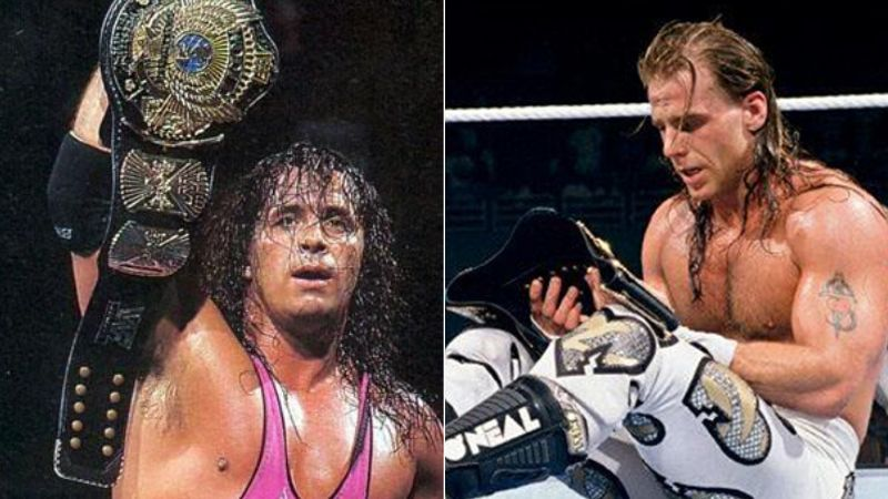 Bret Hart and Shawn Michaels are two-time WWE Hall of Famers