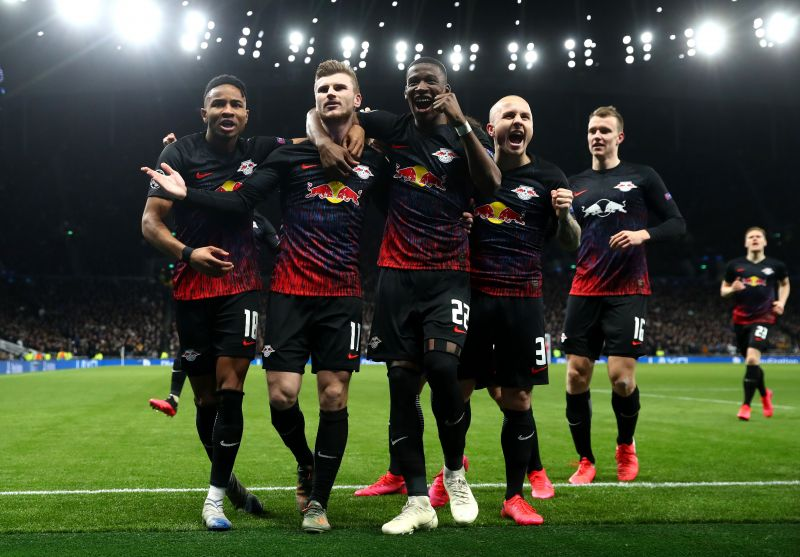 Timo Werner (second from left) scored the only goal in RB Leipzig