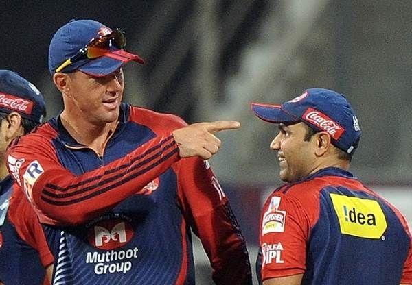 Kevin Pietersen and Virender Sehwag were teammates at Delhi Daredevils