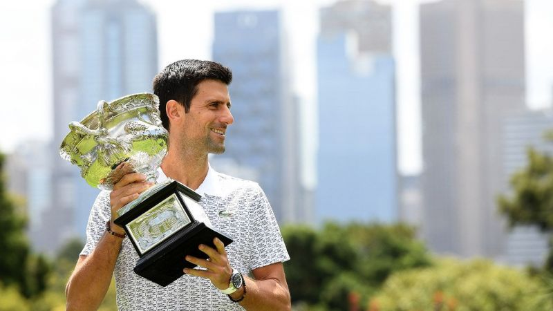 Novak Djokovic holds the record for the most number of titles won at the Australian Open