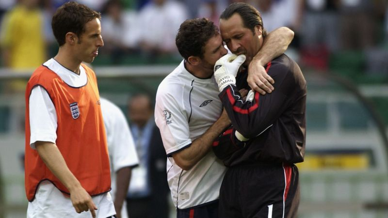 David Seaman was inconsolable following his error against Brazil in the 2002 World Cup